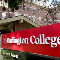 This sign formerly marked the Burlington College campus on North Avenue in Burlington.