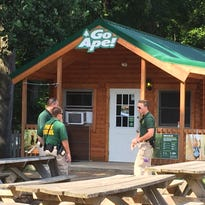 Person falls at Go Ape ropes course at Lums Pond