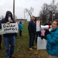 Transgender student rights issue spurs talk, protest