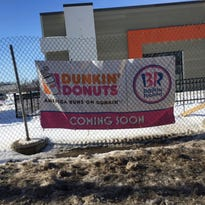 Winter blast pushes back opening of new Dunkin' Donuts