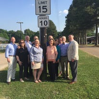 Germantown to celebrate 70th horse show with horse speed limit signs