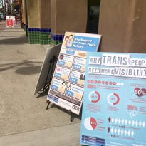 Transgender people and allies made posters in honor of the Transgender Day of Visibility, celebrated March 31.