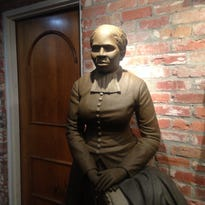 A life-size statute of Harriet Tubman, by artist Fred Ajanogha, is on display at Southern University Museum of Art at Shreveport.