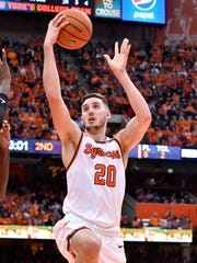 Tyler Lydon take a layup during a Dec. 17, 2016 game