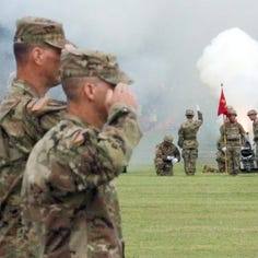 Fort Bliss, 1st Armored Division welcome new leader, Maj. Gen. Patrick Matlock