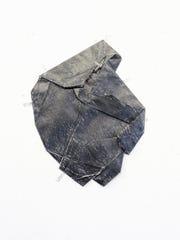 "Astri Snodgrass, ""A Scar (7, black)"",  2017, graphite"