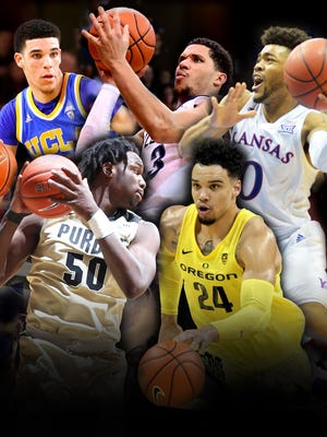Lonzo Ball, Dillon Brooks, Josh Hart, Frank Mason III and Caleb Swanigan have been named USA TODAY's first team All-Americans.