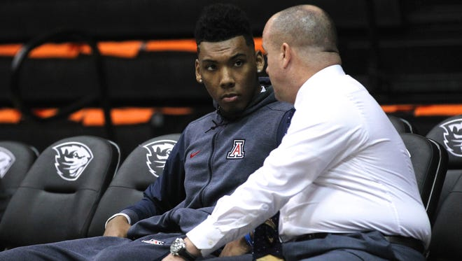 Arizona Wildcats guard Allonzo Trier is awaiting word from the NCAA on his eligibility to play again this season.