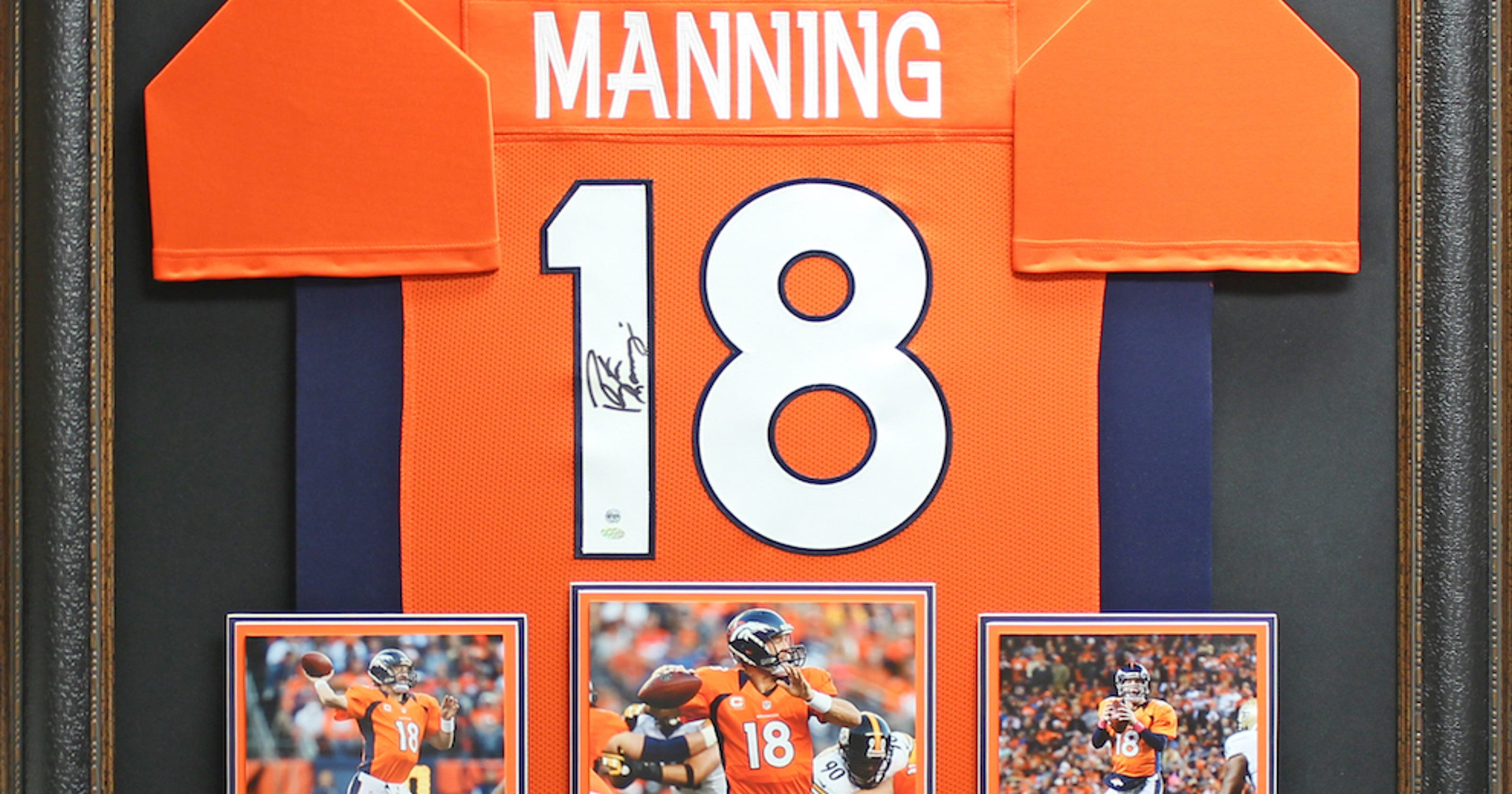 online retailer 71483 7fd48 Peyton Manning jersey featured at FCA auction