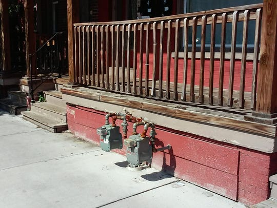 These gas meters were recently installed on North Newberry