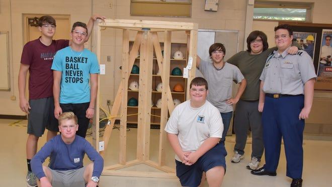 Residential electrical wiring won 2nd place for Gibbs CTE students: (front) Joel Worthham and Rafe Branson; (back) Jackson Bradford, Dylan Foust, Joseph Taylor, David Covington and David Akins.