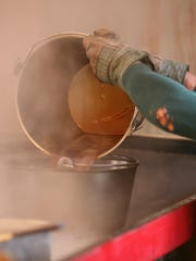 It takes a lot of energy and time to boil maple sap into syrup with 66 percent sugar because sap is about 2 percent sugar to start.