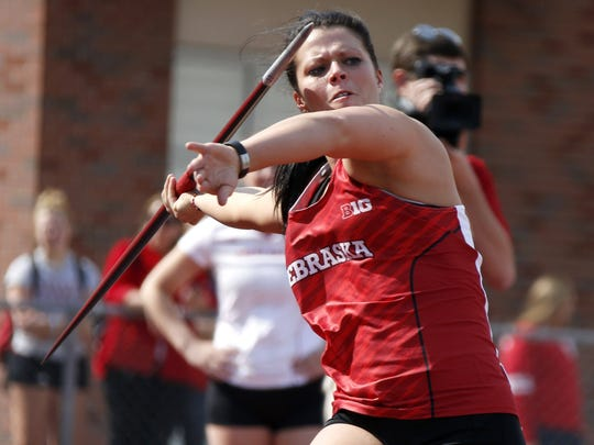 Sarah Firestone, of Mercersburg, placed third in the Big Ten Championships for Nebraska with a javelin throw of 168-8.