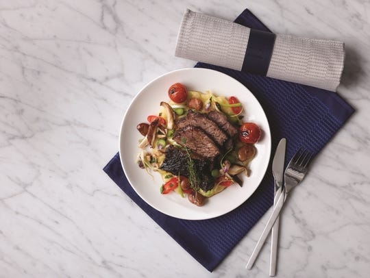 Enjoy delicious inflight food options during the United