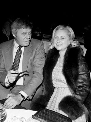 Tom T. Hall and his wife, Dixie Hall, attend the Grammy Gala at the Radisson Plaza on Feb. 26, 1985. Dixie Hall, a prolific songwriter, died in January at age 80.