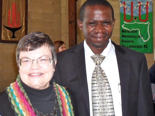 Robin Gray is pictured with Justine Magara, founder of the Unitarian Universalist Manga Congregation in Kenya.
