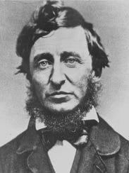 Henry David Thoreau, pioneer American conservationist.