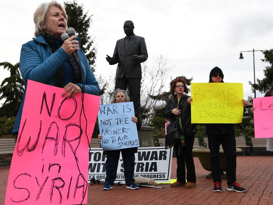 Protest against war in Syria