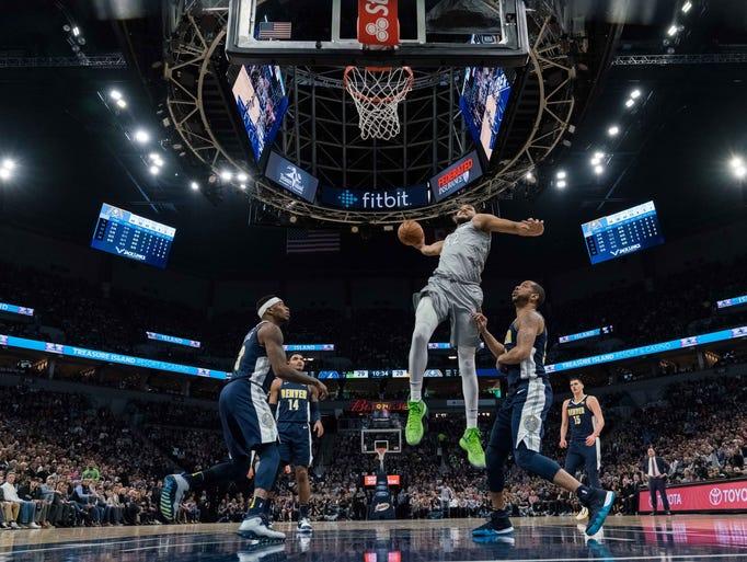 April 11: Minnesota Timberwolves center Karl-Anthony