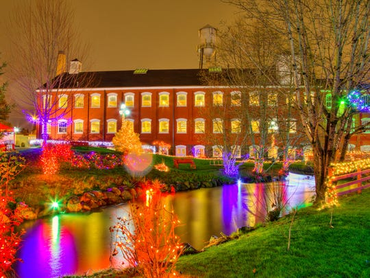 The lights of Magic at the Mill are seen at the Willamette Heritage Center in Salem.