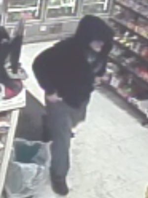 The suspect in a robbery at Quality Market on Vestal Avenue in Binghamton.