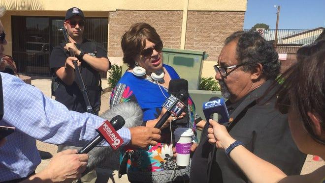 Rep. Raúl Grijalva tours a Southwest Key Programs shelter in Tucson on July 6, 2018.