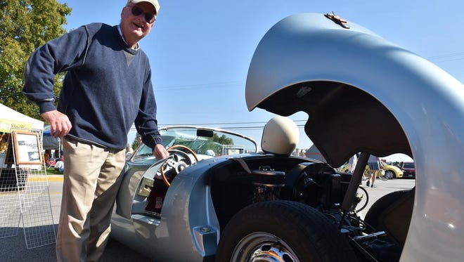 Dick Stahler of Deerfield shows off his 1955 Porsche 550 Spyder at last year's Autumnfest Classic Car Show in Baileys Harbor. The show returns to this year's Autumnfest on Sept, 24.