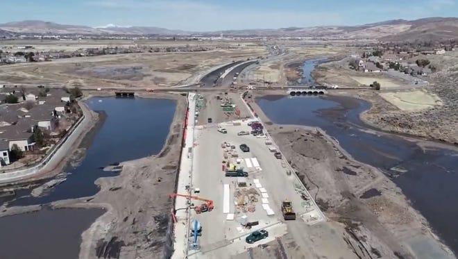 Construction on the Southeast Connector near Mira Loma Bridge.