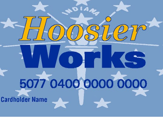 Hoosier Works card replaced food stamps and the monthly checks issued under the Temporary Assistance to Needy Families program.