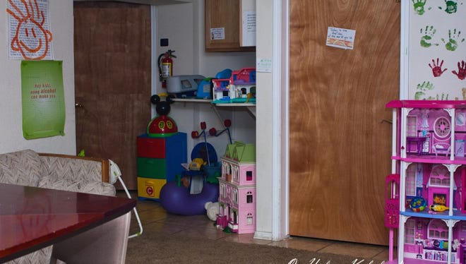 Pictured here is one of the children's play areas inside The Nest domestic violence shelter.