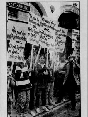 1987 newspaper reporting on KKK marches in Staunton, Waynesboro