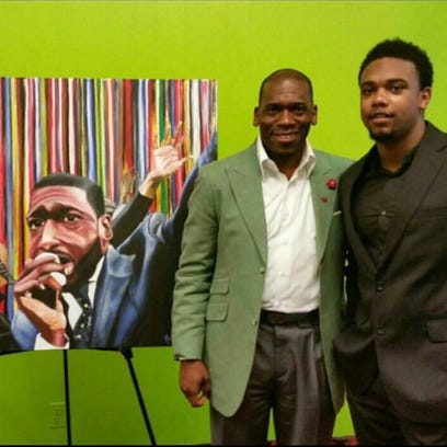 Blake Pierre pictured with Jamal Bryant