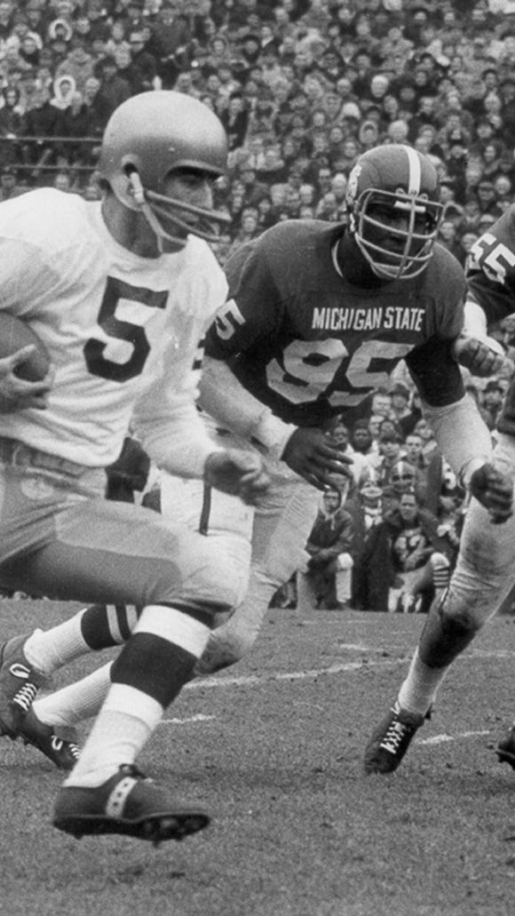 Bubba Smith was a dominating and intimidating force on MSU's defensive line in the mid-1960s.