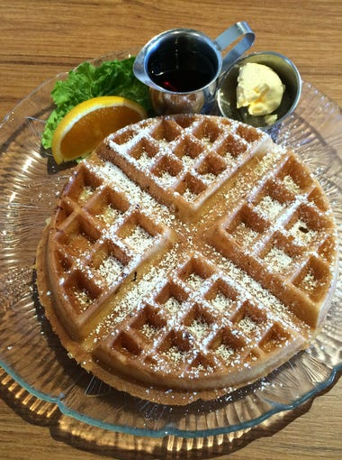 The fresh baked Belgian waffle at U.S. Egg is fluffy
