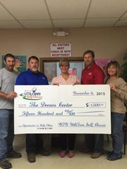 Committee members of the West TN UtiliTees Golf Classic donated $1,500 to local nonprofit The Dream Center on Nov. 6.