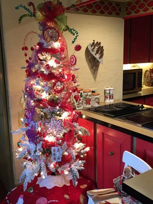 One of many decorated Christmas trees in the Schlappi house. The Waynesboro residence was part of last year's Christmas Home Tour.