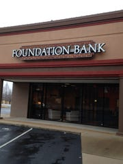 Foundation Bank is building a new bank at the corner of Pleasant Plains Drive and Country Club Lane.