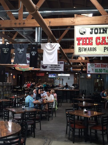 The cavernous interior of Thunder Canyon Brewery Restaurant and Pub in downtown Tucson reflects the popularity of its food and extensive beer menu.