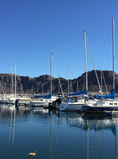 The Lake Mead Marina is a great pit stop on the drive between Phoenix and Las Vegas.