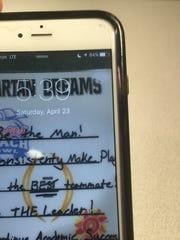 Michigan State QB Tyler O'Connor's phone