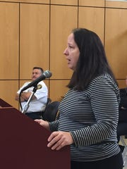 Deborah Munitz, a member of the citizen-led groups CUPON Rockland and ROSA 4 Rockland, raised some red flags about the proposed zoning law changes at the morning Ramapo Town Board meeting on Oct. 27, 2016.
