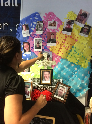 La Voz put together a newsroom altar in Phoenix honoring fallen first-responders, including from the Yarnell Hill Fire, for Dia de los Muertos 2016.