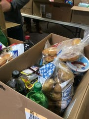 A peak inside a Thanksgiving donation box at Redeeming Life Ministries in Staunton, Va., on Monday, Nov. 21, 2016.