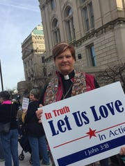 Teri Ditslear attended the Women's March on Indianapolis rally.