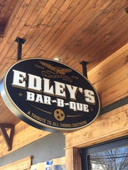 The entrance to Edley's Bar-B-Que in 12South, seen