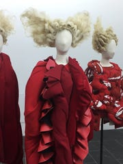 "This photo shows part of the exhibit from ""Rei Kawakubo/Comme"