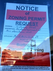 A Burlington Planning & Zoning request is displayed