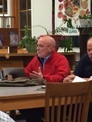 "Chairman Mark Porter debates the merits of ""board reflection"" following public comments at a special Burlington School District School Board meeting on Nov. 28, 2017"