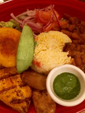 Chimborazo specializes in traditional family fare from Ecuador and the Andean Highlands.  Churrasco, for example, comes with grilled chicken rice, beans and sweet plantain.