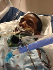 In this undated photograph, Isaiah Tatum recovers in
